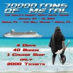 70000 Tons Of Metal 2014: Death Angel, Overkill e Soilwork tra le prime conferme