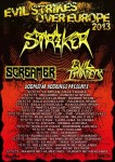 Striker: tour europeo con tre date in Italia