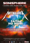 Sonisphere 2015: Metallica e Faith No More a Rho
